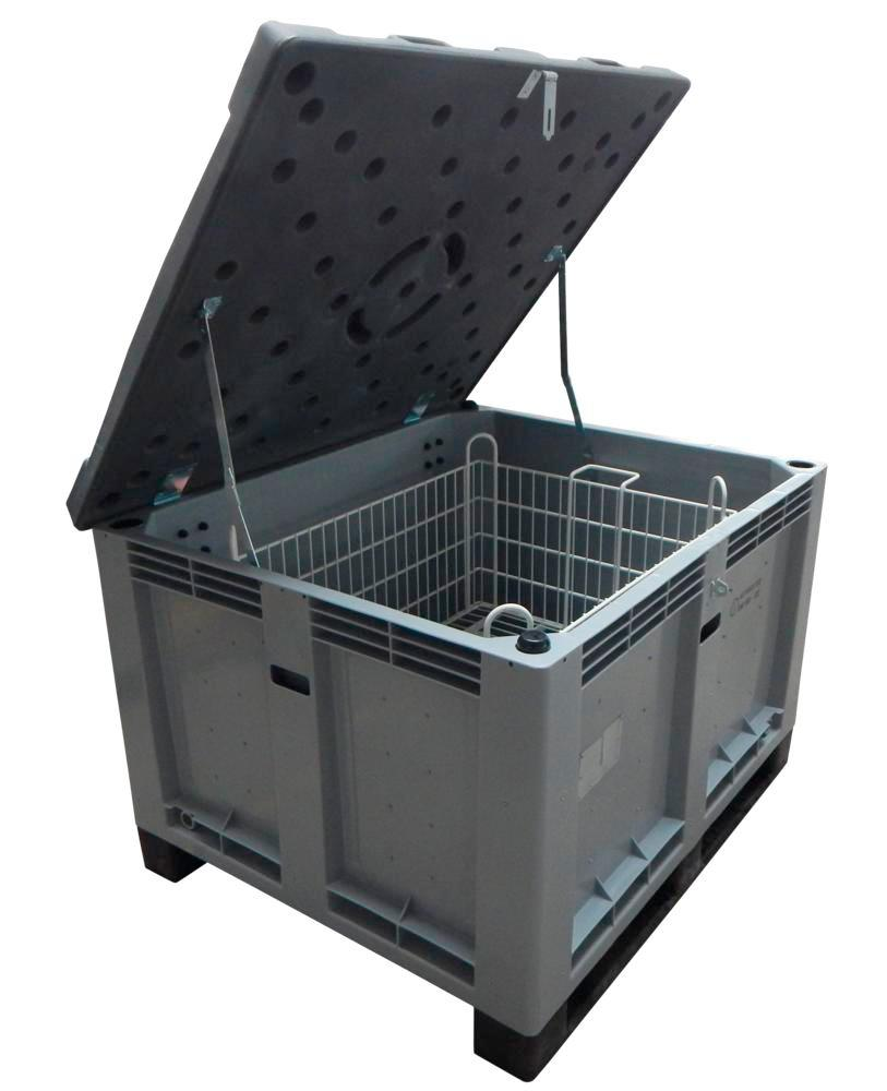 Lithium-Ionen-Akku-Transportbox PE, 299 l, M-Box 2 Advanced, Füllmaterial PyroBubbles®